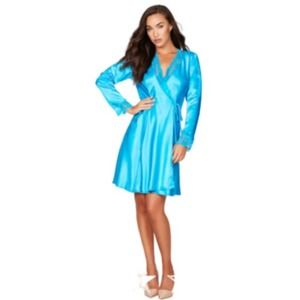 NEW! Gracie Satin and Lace Robe